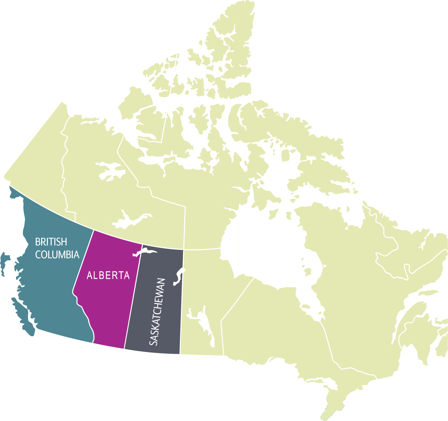 Map of Western Canada - WMTS 2019